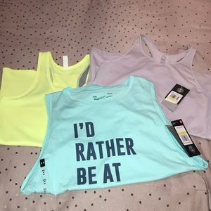 Lot of 3 Authentic Under Armour Women Tanks